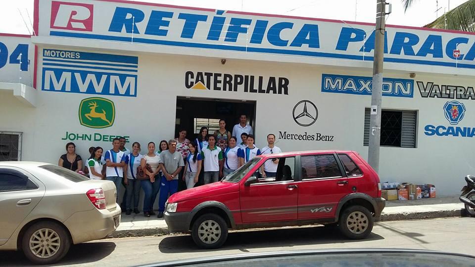 Visita Técnica na empresa Retifica Paracatu. Curso técnico em Segurança do Trabalho com muita prática