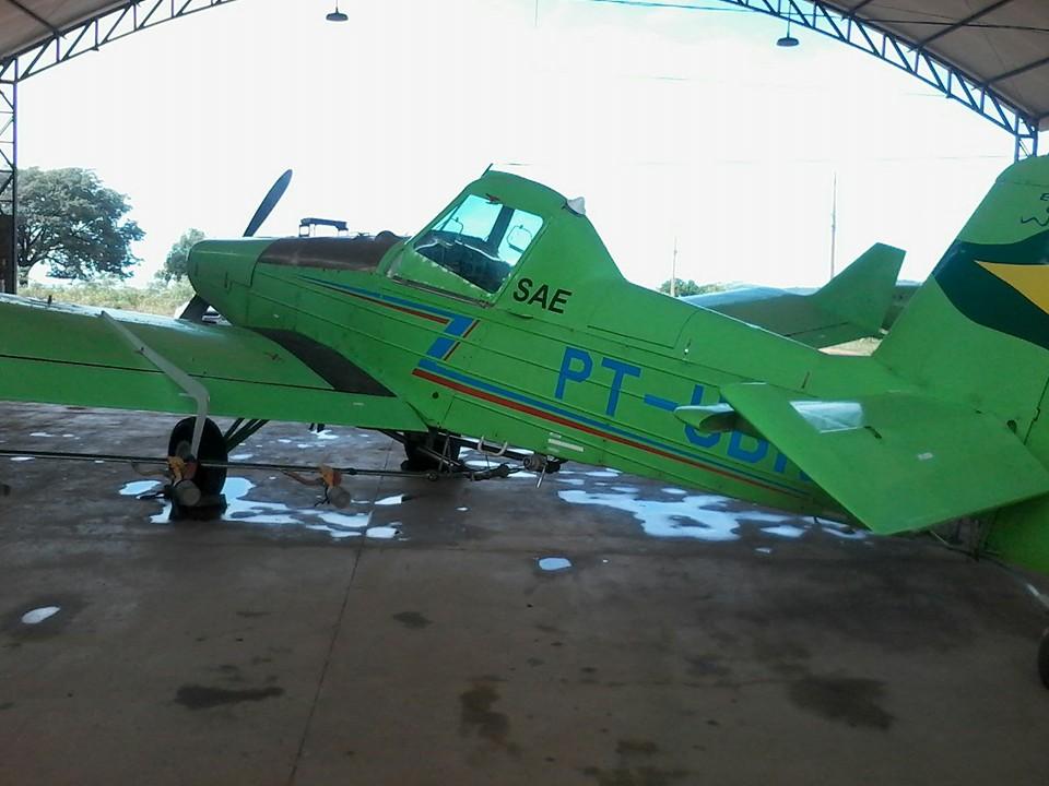 Visita Técnica na empresa POTÊNCIA Aviação Agrícola. Alunos do curso técnico em Segurança do Trabalho e o professor Vinicius Receputti