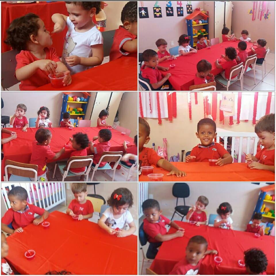 Festa do Vermelho, trabalhando as cores com as crianças e a tia Carol